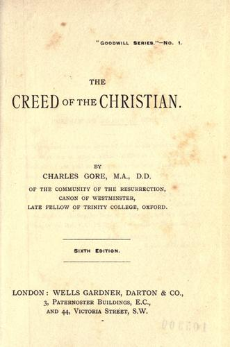 Download The creed of the Christian