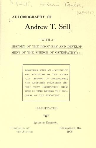 Download Autobiography of Andrew T. Still
