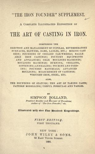 """Download """"The iron founder"""" supplement."""