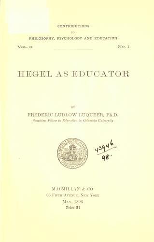 Download Hegel as educator.