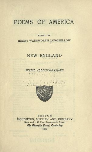 Poems of America by Henry Wadsworth Longfellow