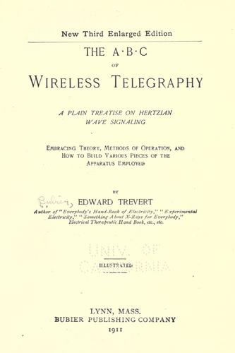 Download The A B C of wireless telegraphy