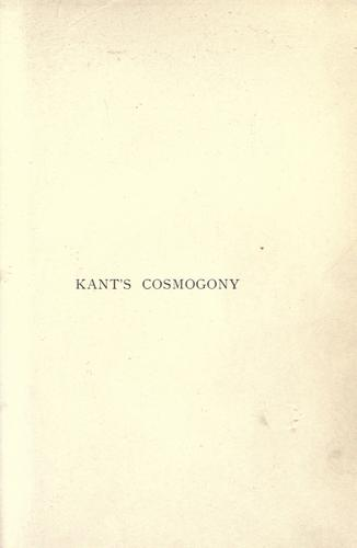 Download Kant's cosmogony
