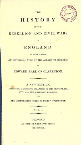 Download The history of the rebellion and civil wars in England