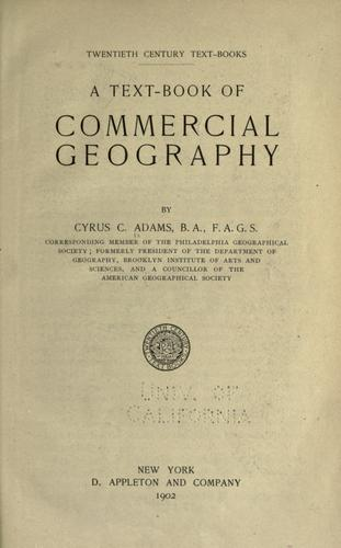 Download A text-book of commercial geography
