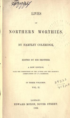 The worthies of Yorkshire and Lancashire