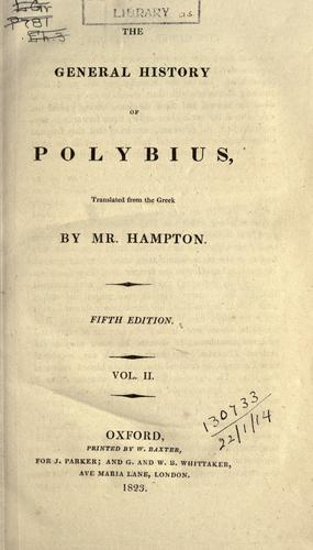 Download The general history of Polybius