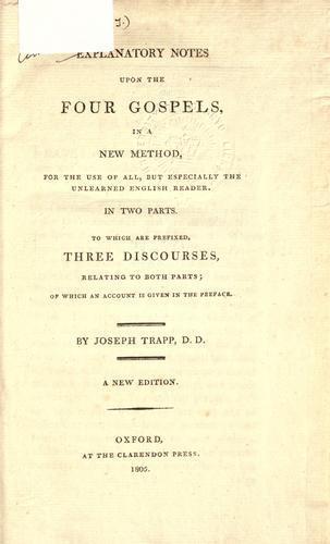 Explanatory notes upon the four Gospels