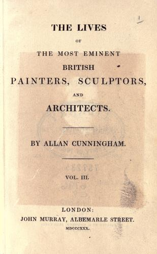 Download The lives of the most eminent British painters, sculptors, and architects.