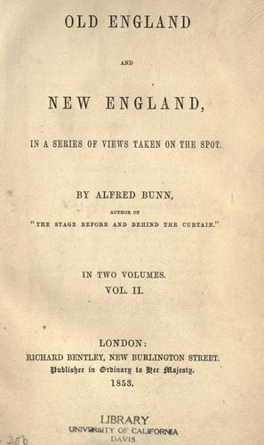 Download Old England and New England