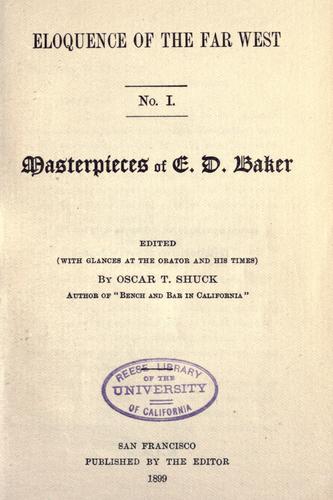 Masterpieces of E.D. Baker