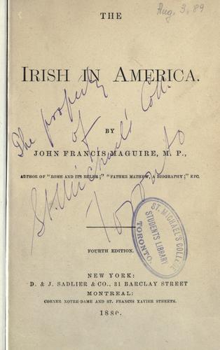 The Irish in America.