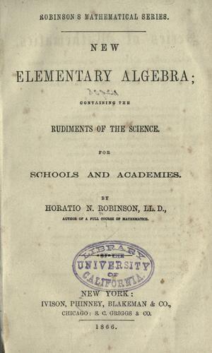 Download New elementary algebra