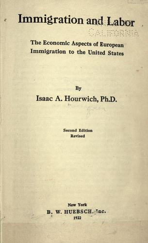 Download Immigration and labor