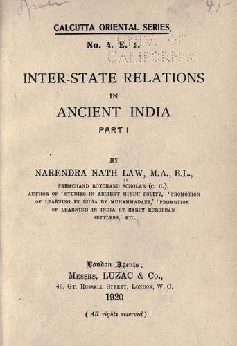 Download Inter-state relations in ancient India.