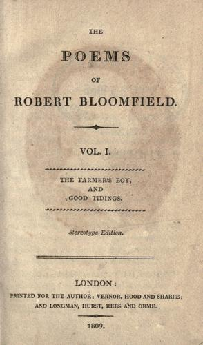 The poems of Robert Bloomfield