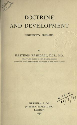 Download Doctrine and development
