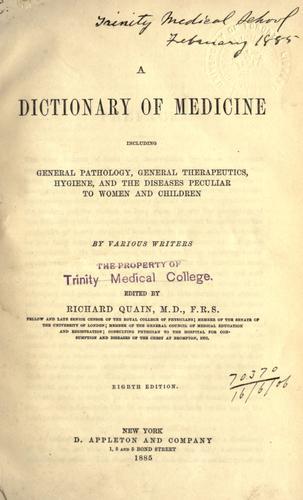 Download A dictionary of medicine