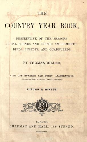 The country year book by Miller, Thomas