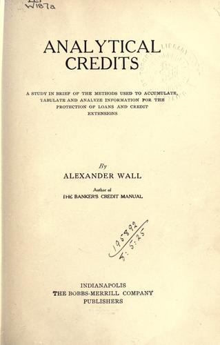 Analytical credits