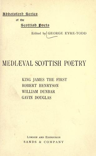 Download Mediaeval Scottish poetry.