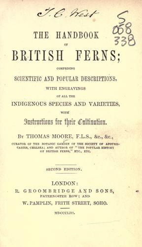 The handbook of British ferns