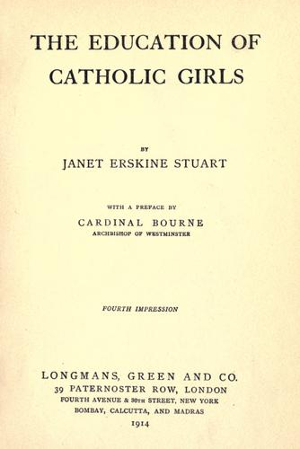Download The education of Catholic girls