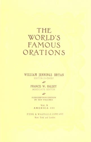 The world's famous orations.