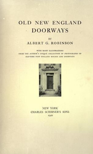 Old New England doorways