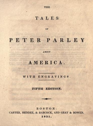 The tales of Peter Parley about America