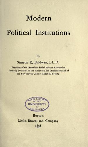 Modern political institutions