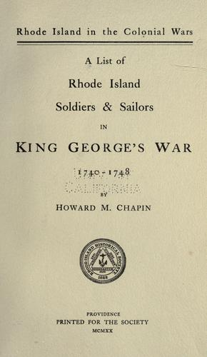 Download Rhode Island in the colonial wars.
