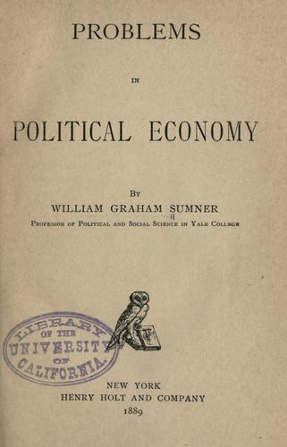 Download Problems in political economy