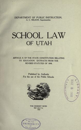 School law of Utah …