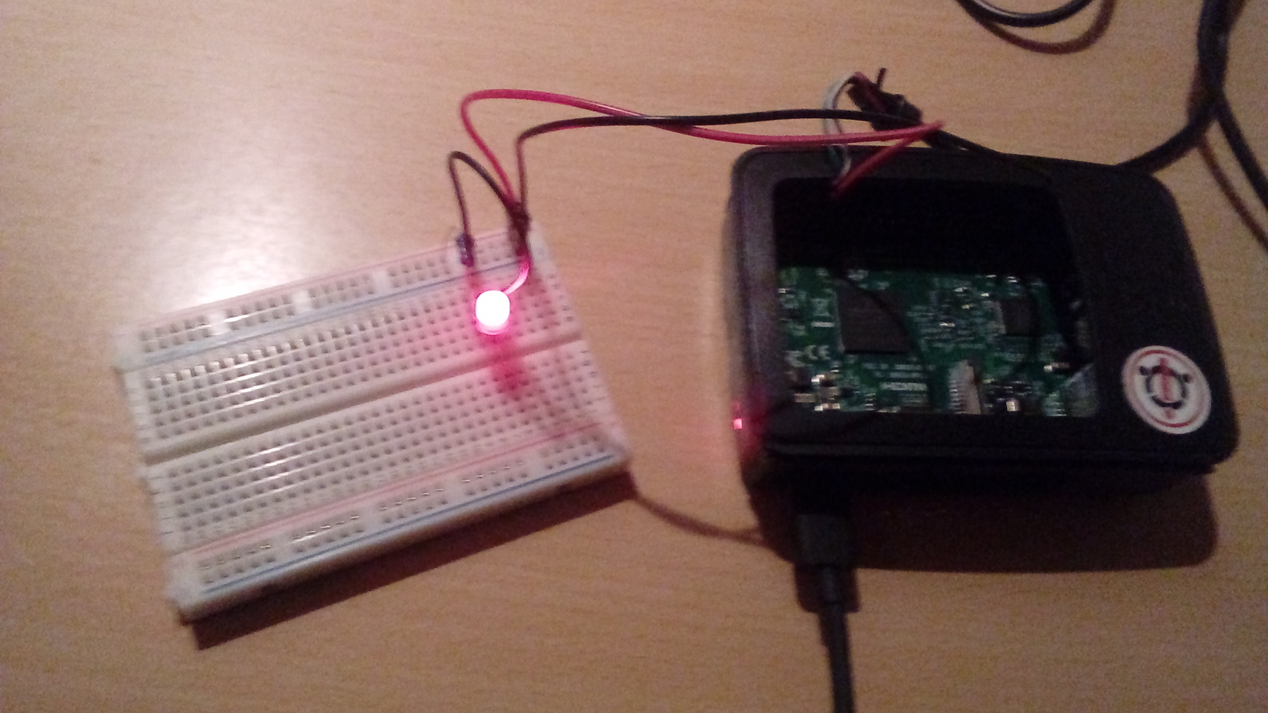 picture of the Raspberry Pi prototype