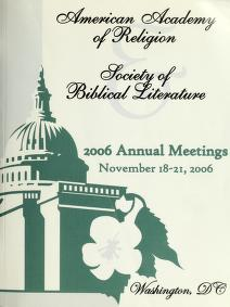 Cover of: AAR/SBL annual meeting program   American Academy of Religion