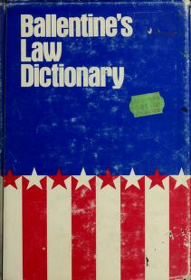 Cover of: Ballentine's law dictionary, with pronunciations. by James A. Ballentine