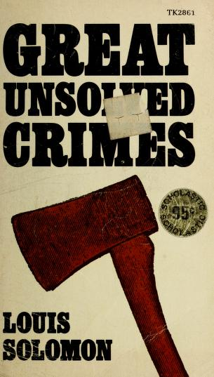 The Ma & Pa murders and other perfect crimes by Solomon, Louis