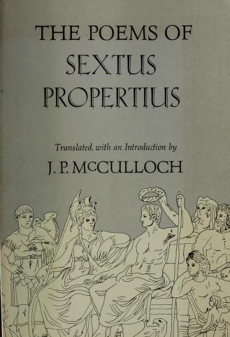 The poems of Sextus Propertius by Sextus Propertius