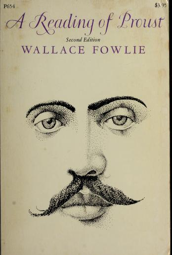 Cover of: A reading of Proust | Wallace Fowlie