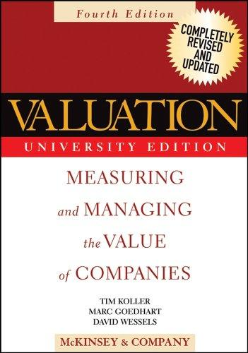 Valuation by McKinsey and Company., Tim Koller, Marc Goedhart, David Wessels