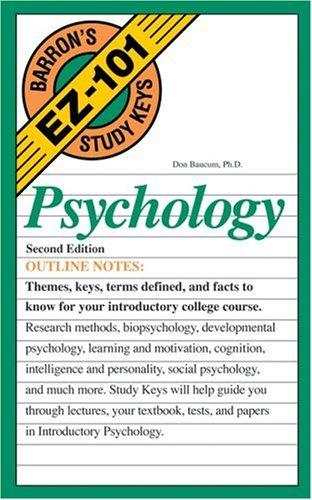Psychology by Don Baucum