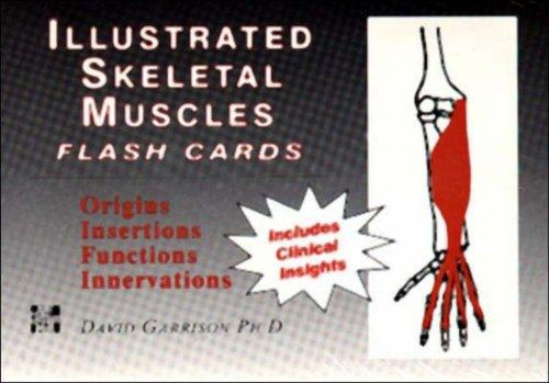 Illustrated Skeletal and Muscle Flash Cards by David Garrison