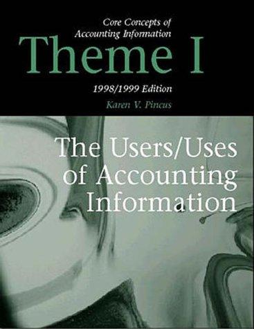 Core Concepts of Accounting Information Theme 1 by Karen V. Pincus