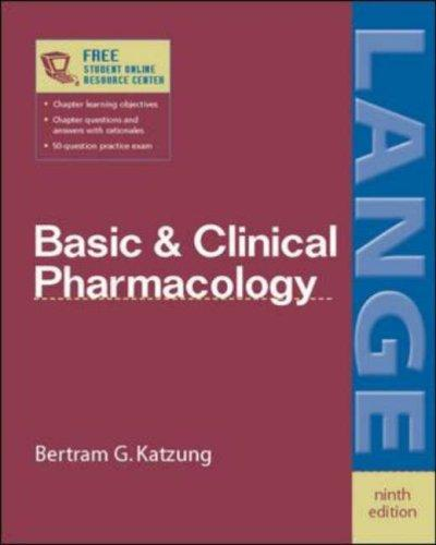 Basic and Clinical Pharmacology by B.G. Katzung