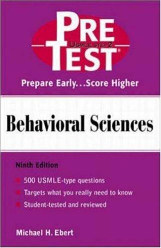 Behavioral Sciences by Michael H. Ebert