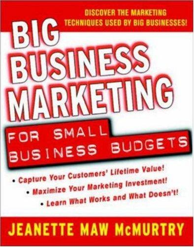 Big Business Marketing For Small Business Budgets by Jeanette Maw McMurtry