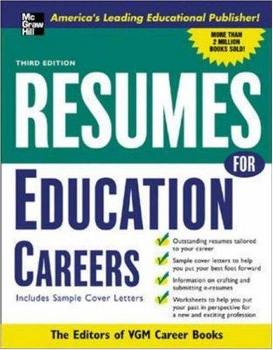 Resumes for Education Careers by Editors of VGM, Editors of VGM Careers Books