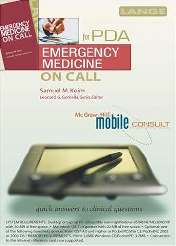 Emergency Medicine On Call PDA by Samuel M. Keim