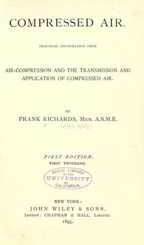 Compressed air by Richards, Frank